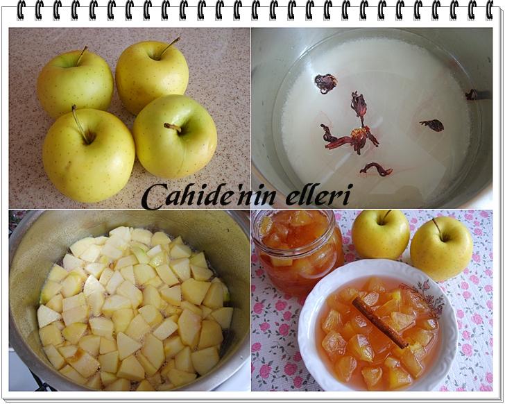 elma reçeli yapımı