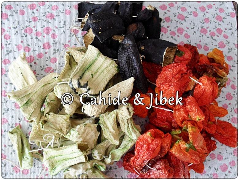 Kabak,biber,patlıcan kurusu