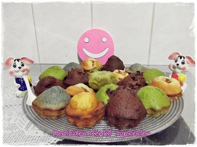 rengarenk muffinler