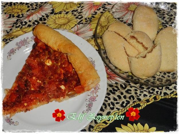 pizza ve kurabiye