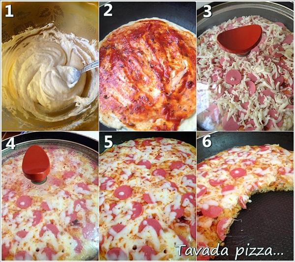 tavada pizza yapımı
