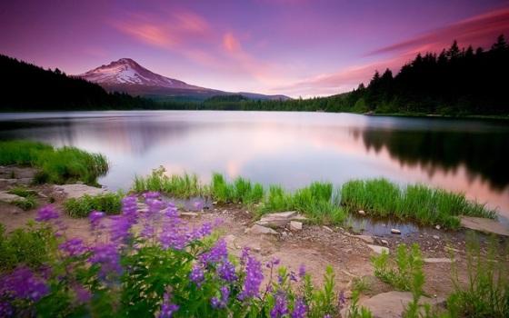 glow-Lake-pink-sky-spring-sunset